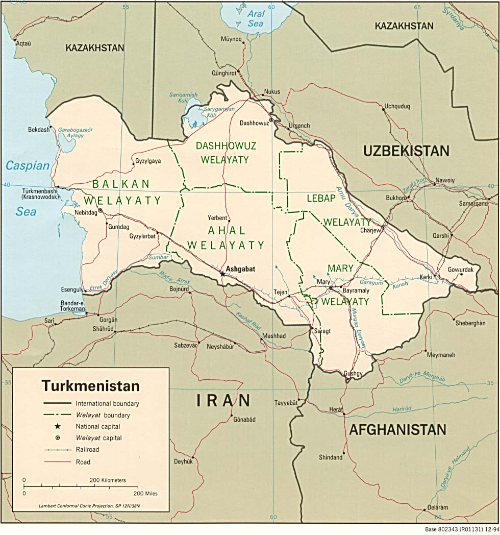 Maps of Turkmenistan Map Library Maps of the World