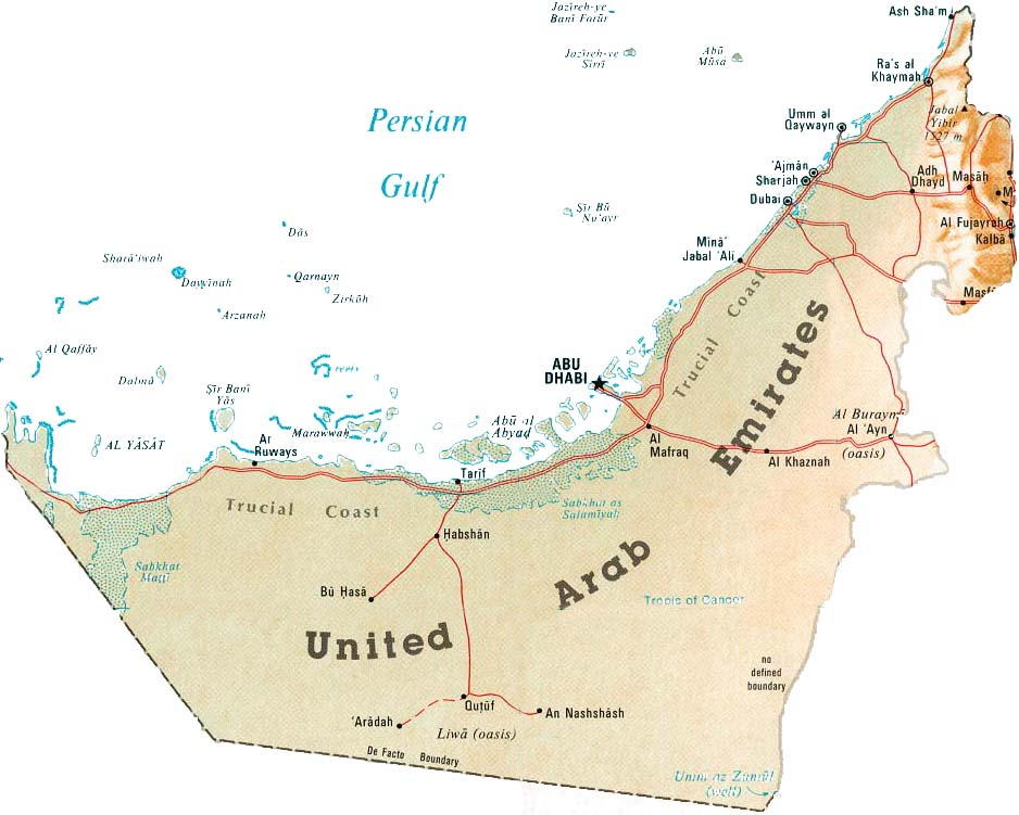 Maps Of UAE United Arab Emirates Map Library Maps Of The World - Uae map