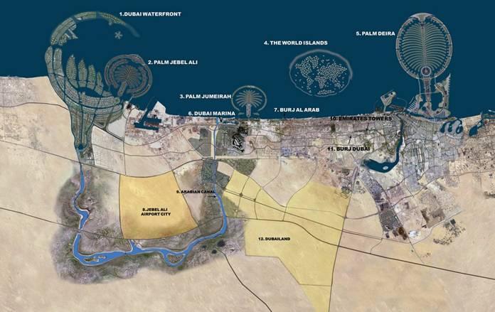 detailed satellite map of dubai