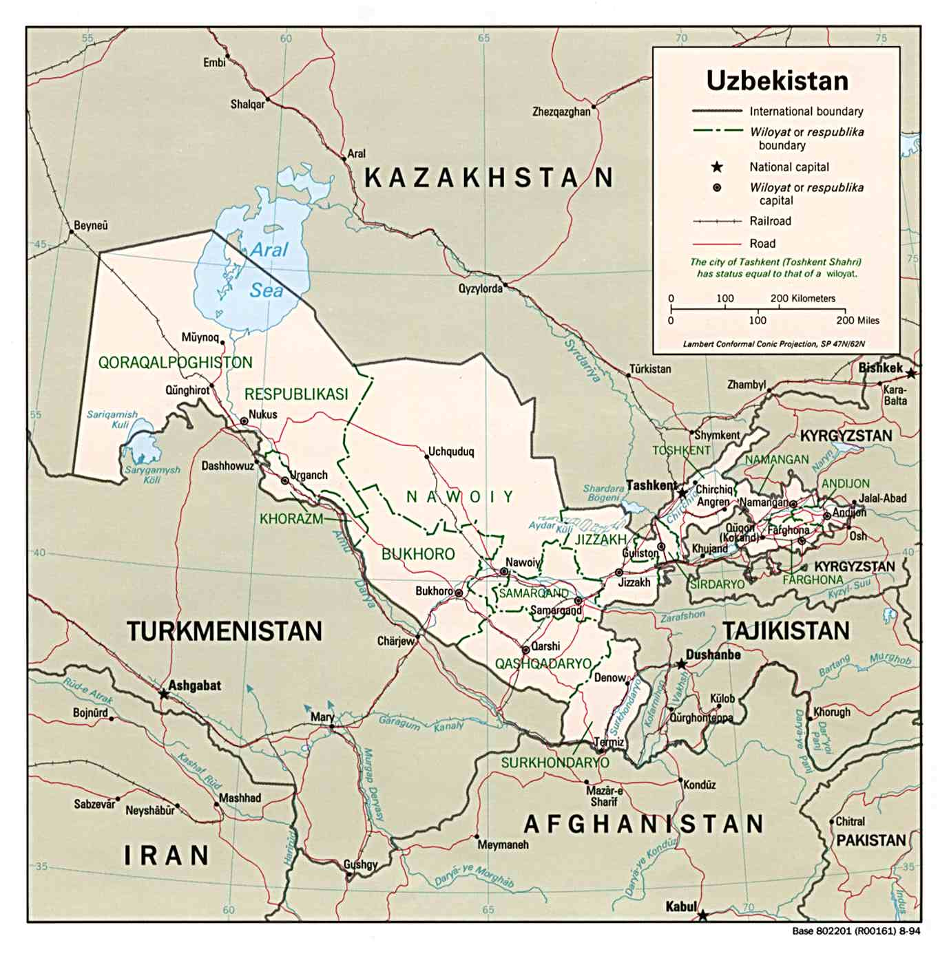Maps of Uzbekistan Map Library Maps of the World