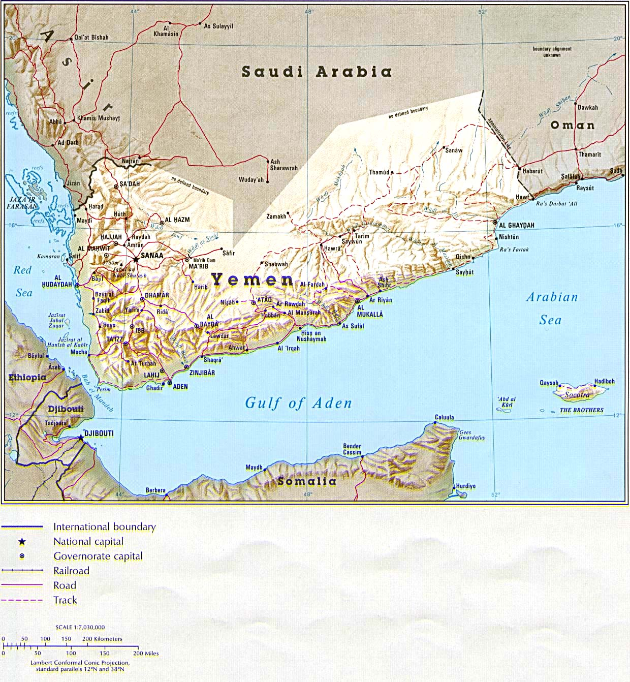 Maps of Yemen Map Library Maps of the World