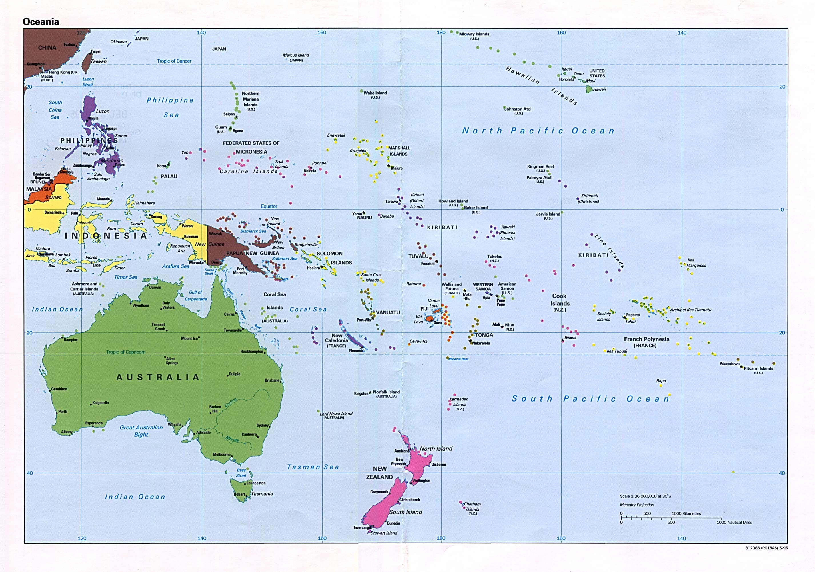 Maps of Australia and Oceania Map Library Maps of the World