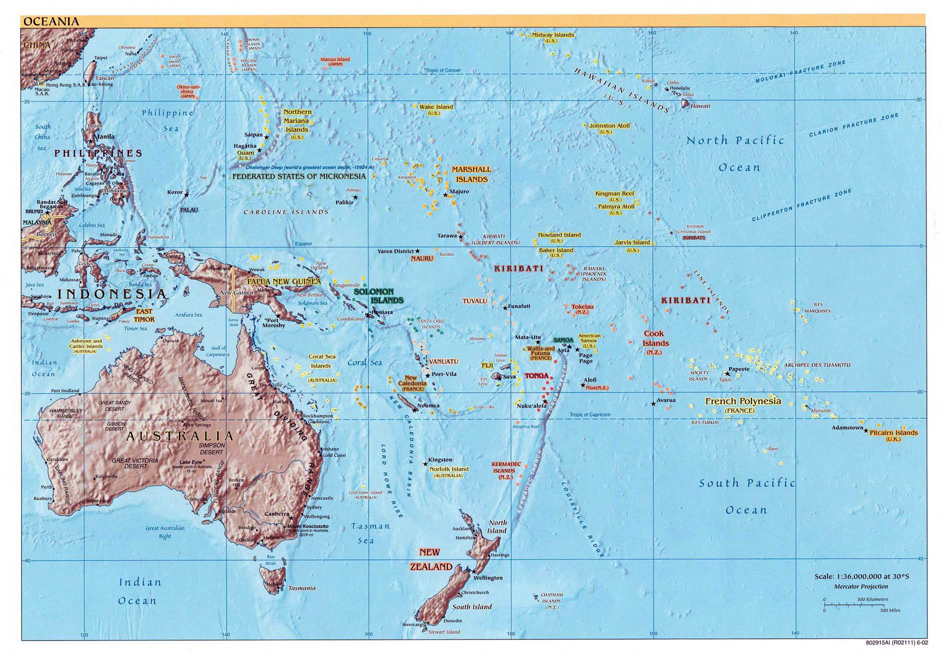 Maps Of Australia And Oceania Map Library Maps Of The World - Micronesia interactive map