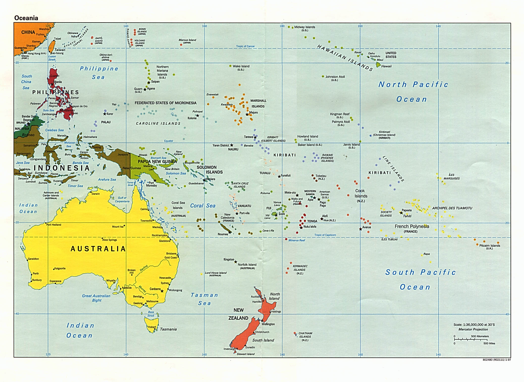 Maps Of Australia And Oceania Map Library Maps Of The World - Australia political map