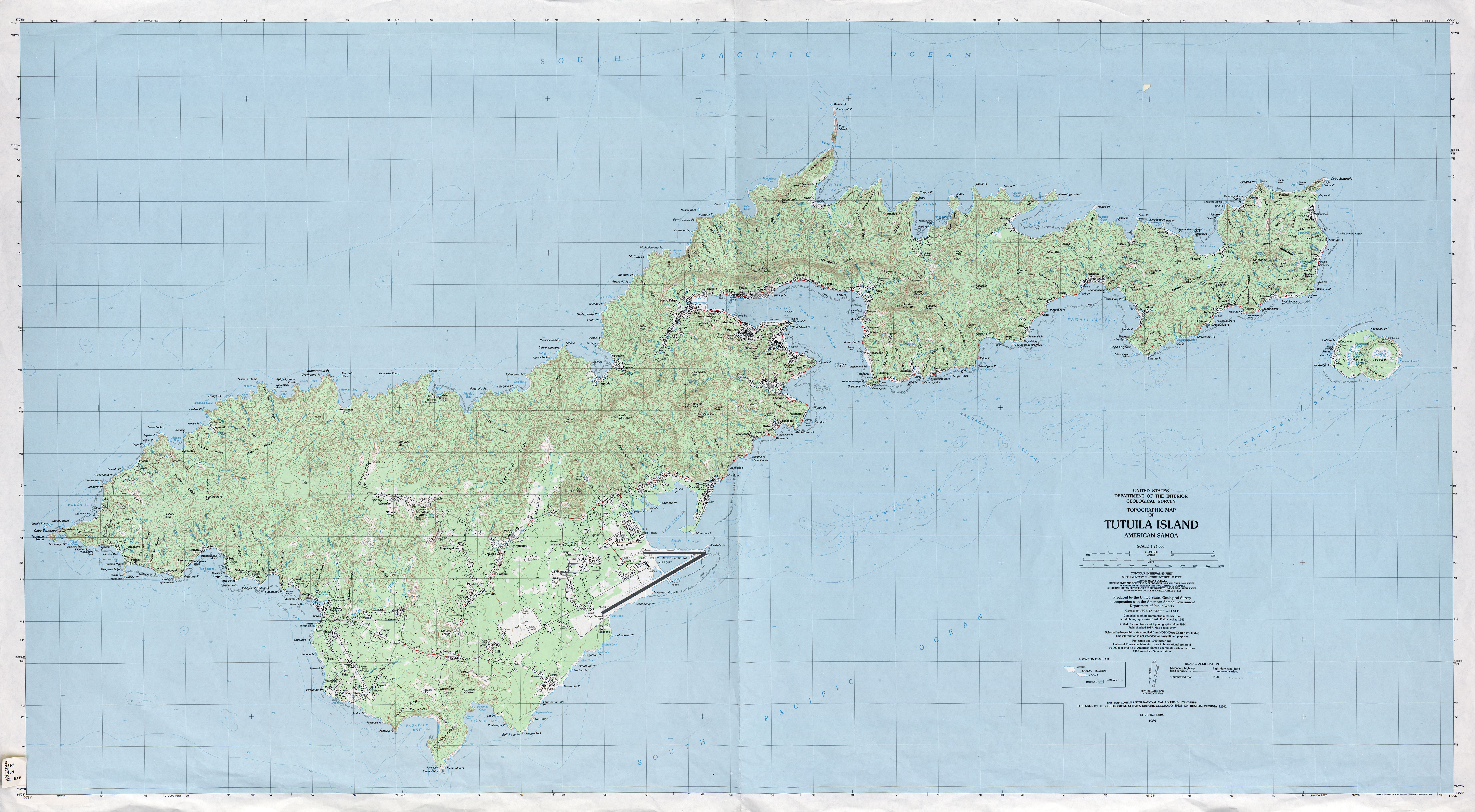 Maps of American Samoa Eastern Map Library Maps of the World