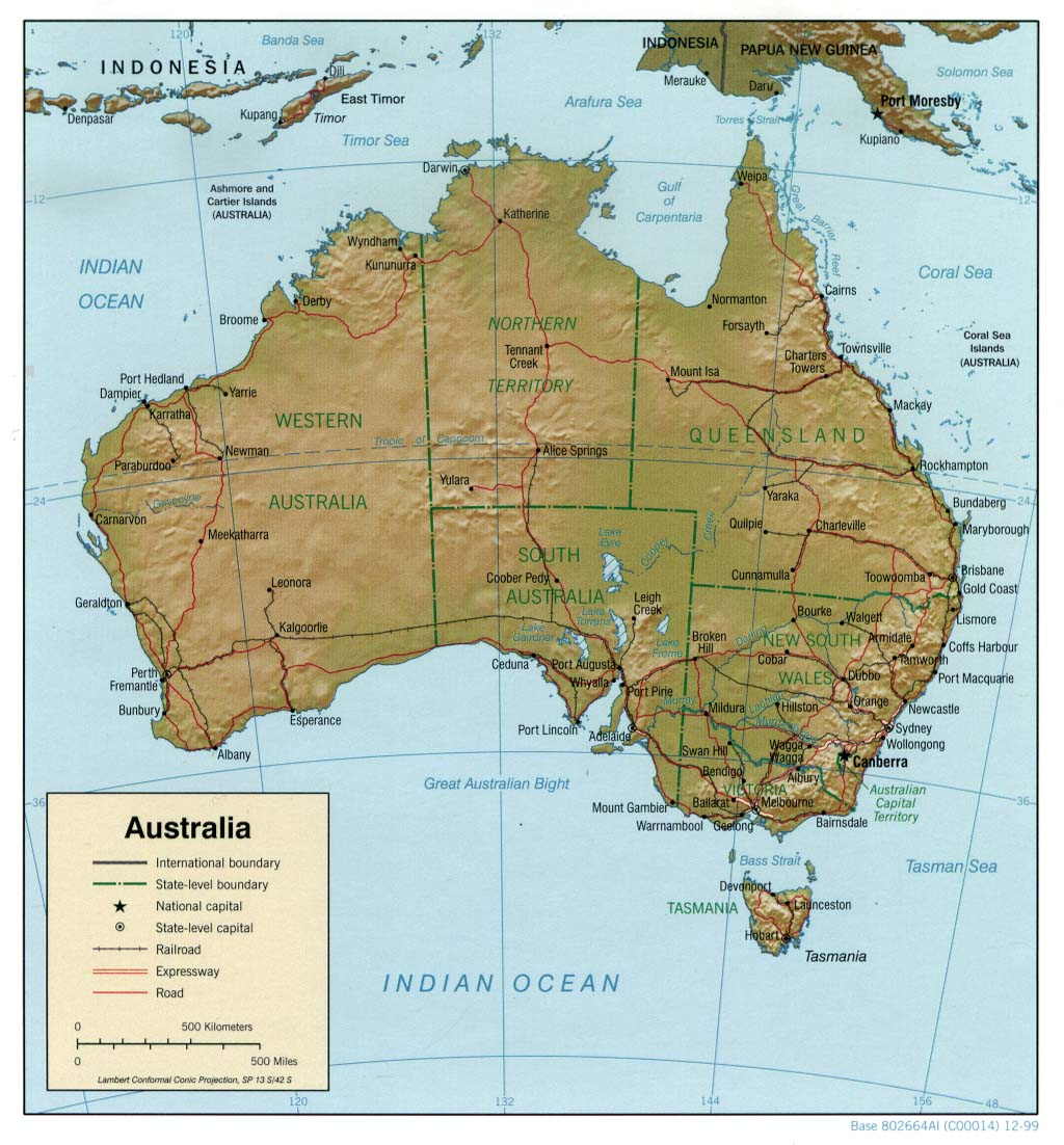 Maps Of Australia Map Library Maps Of The World - Australia detailed map