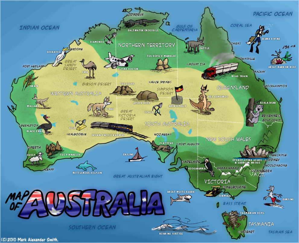 Maps of Australia Map Library Maps of the World