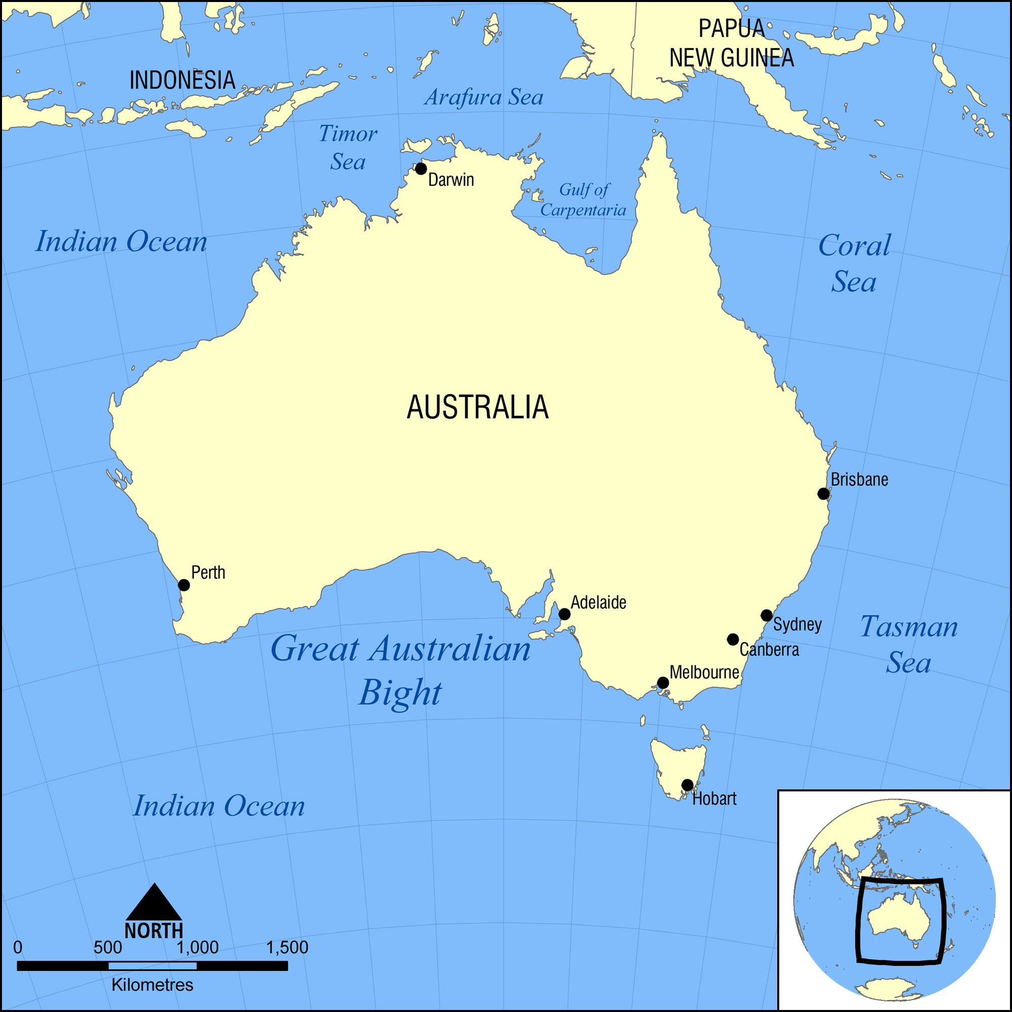 Maps Of Australia Map Library Maps Of The World - Political map of oceania