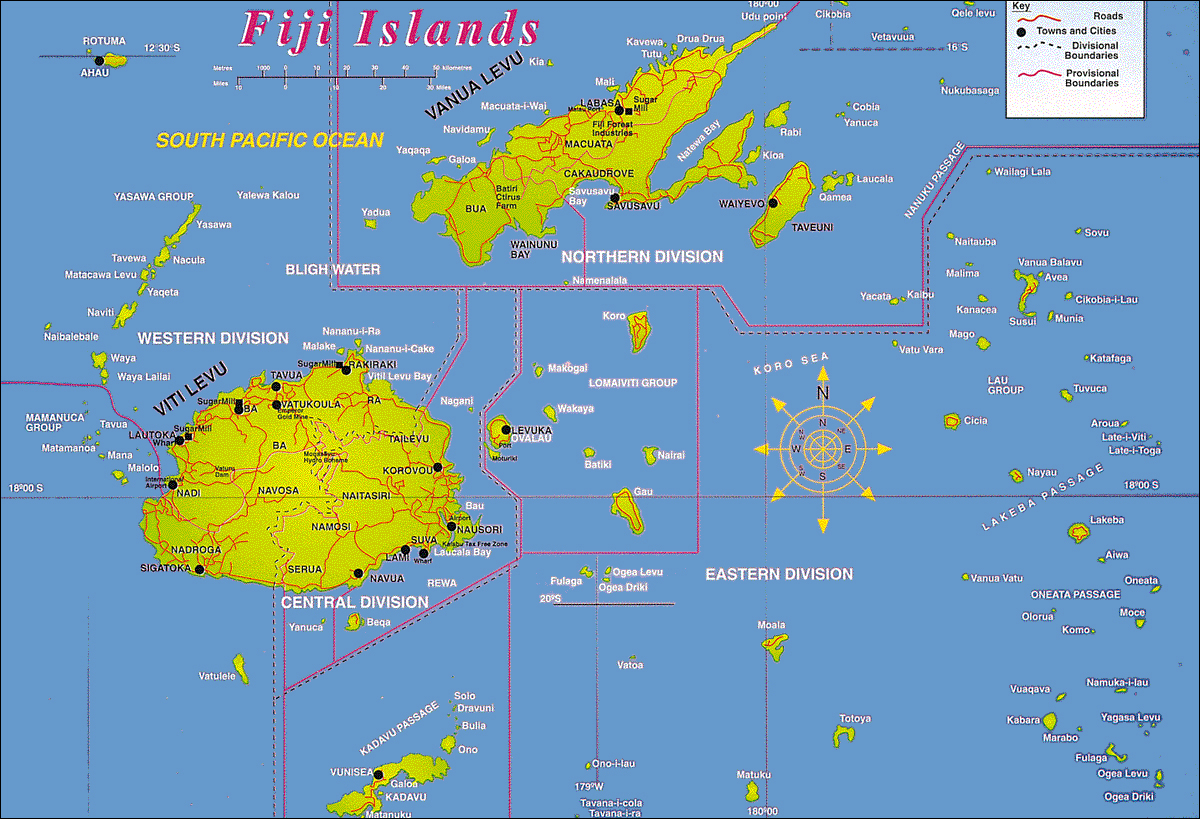 Maps of Fiji | Map Library | Maps of the World