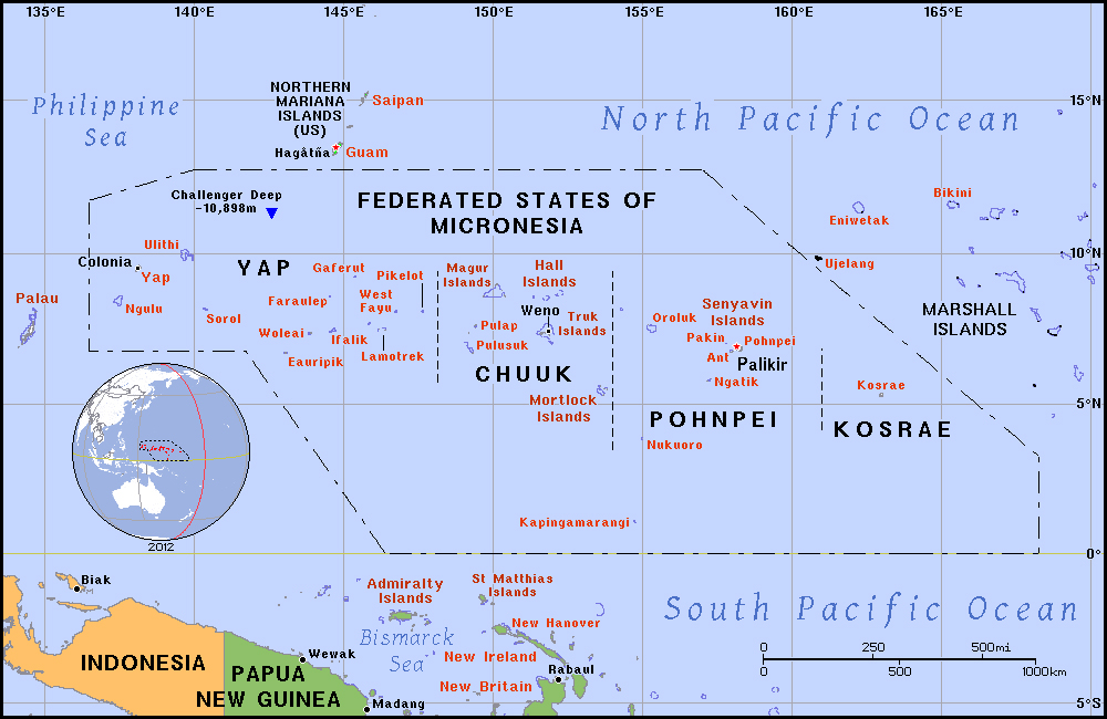 Maps of Micronesia Map Library Maps of the World