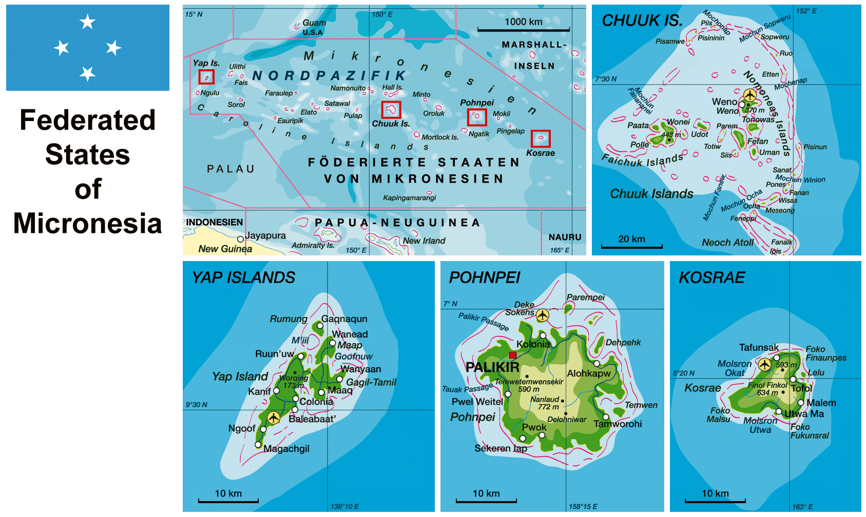 Maps Of Micronesia Map Library Maps Of The World - Physical map of oceania