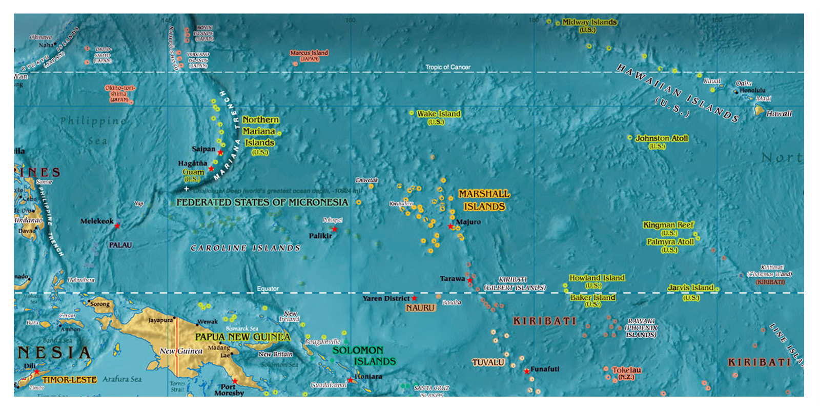 Maps Of Micronesia Map Library Maps Of The World - Micronesia interactive map
