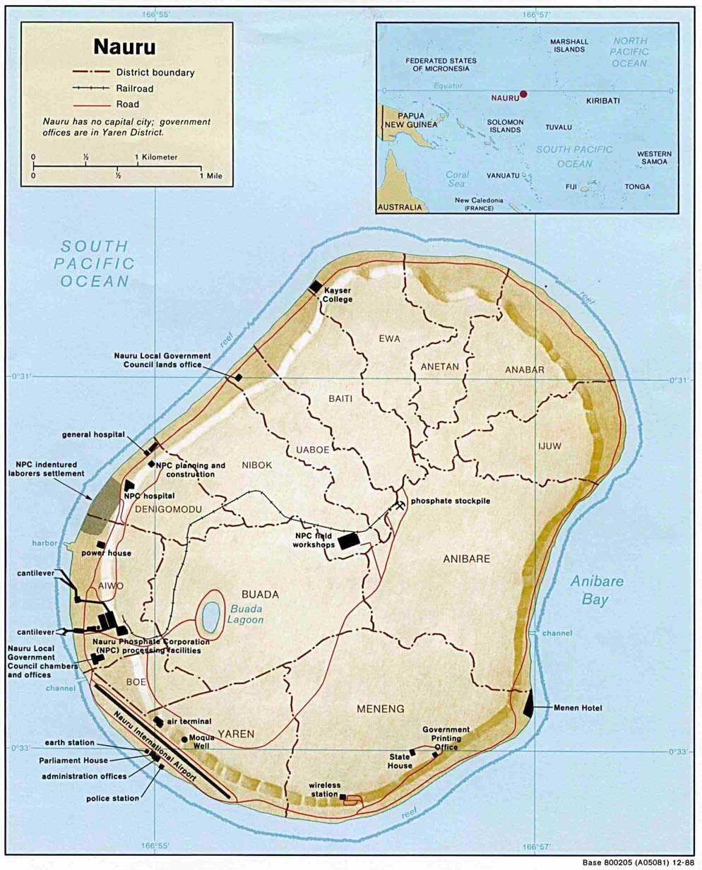 Maps of Nauru Map Library Maps of the World
