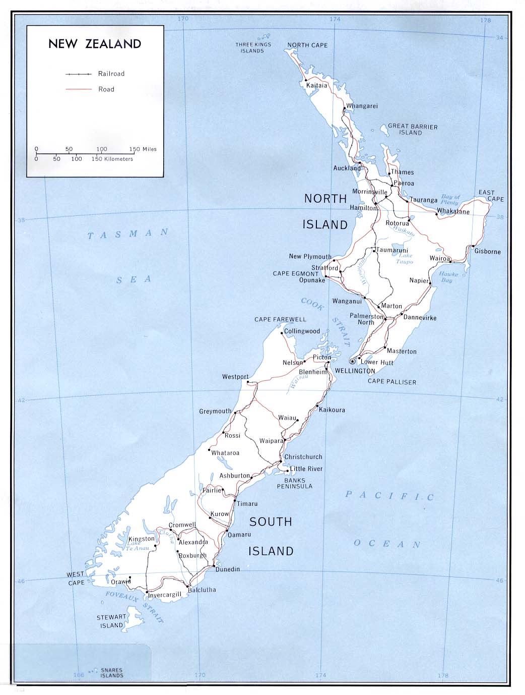 Map Of New Zealand With Cities.Maps Of New Zealand Map Library Maps Of The World