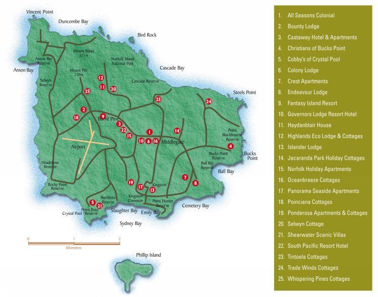 Maps Norfolk Island Australia