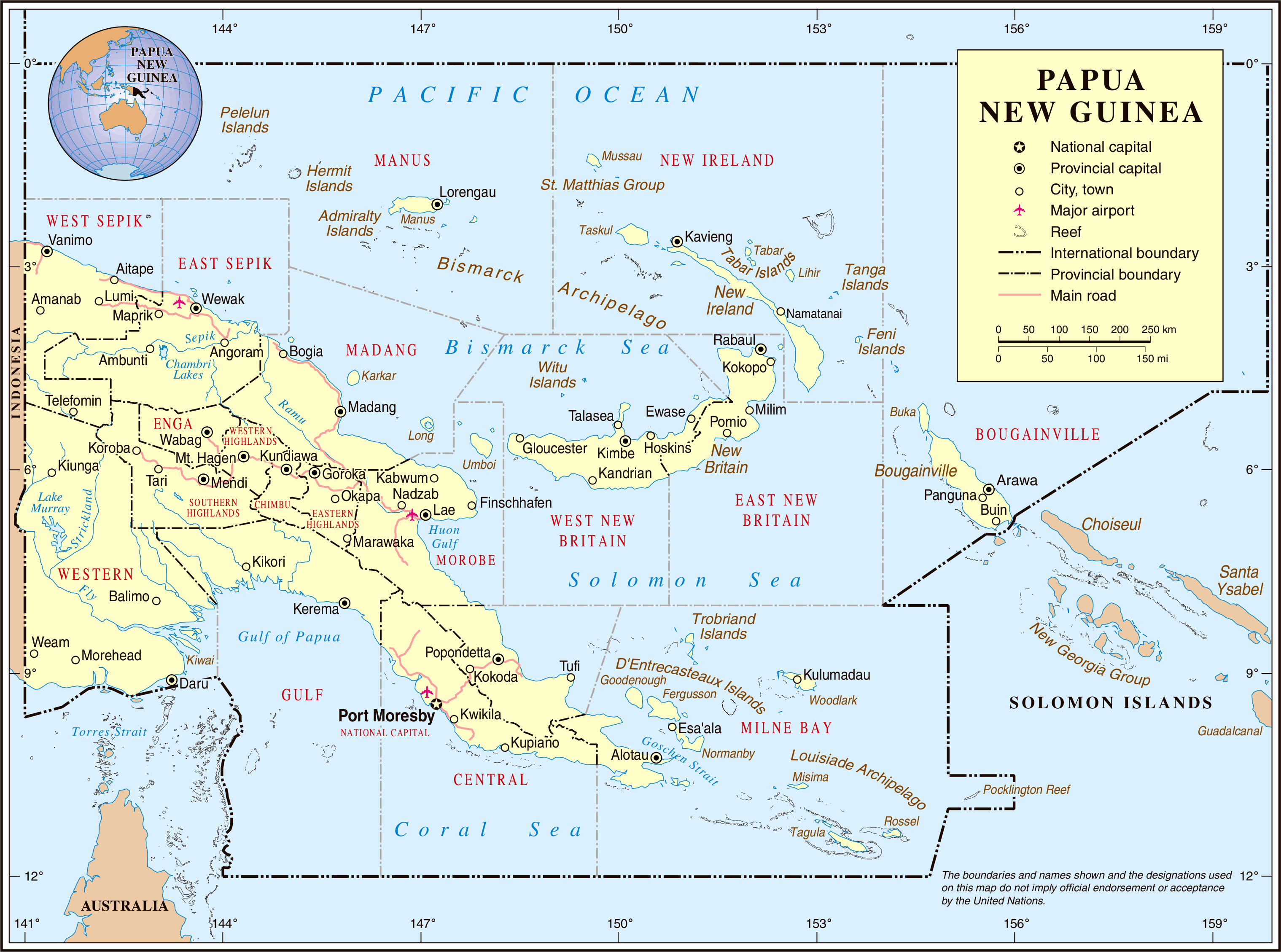 Maps of Papua New Guinea | Map Library | Maps of the World