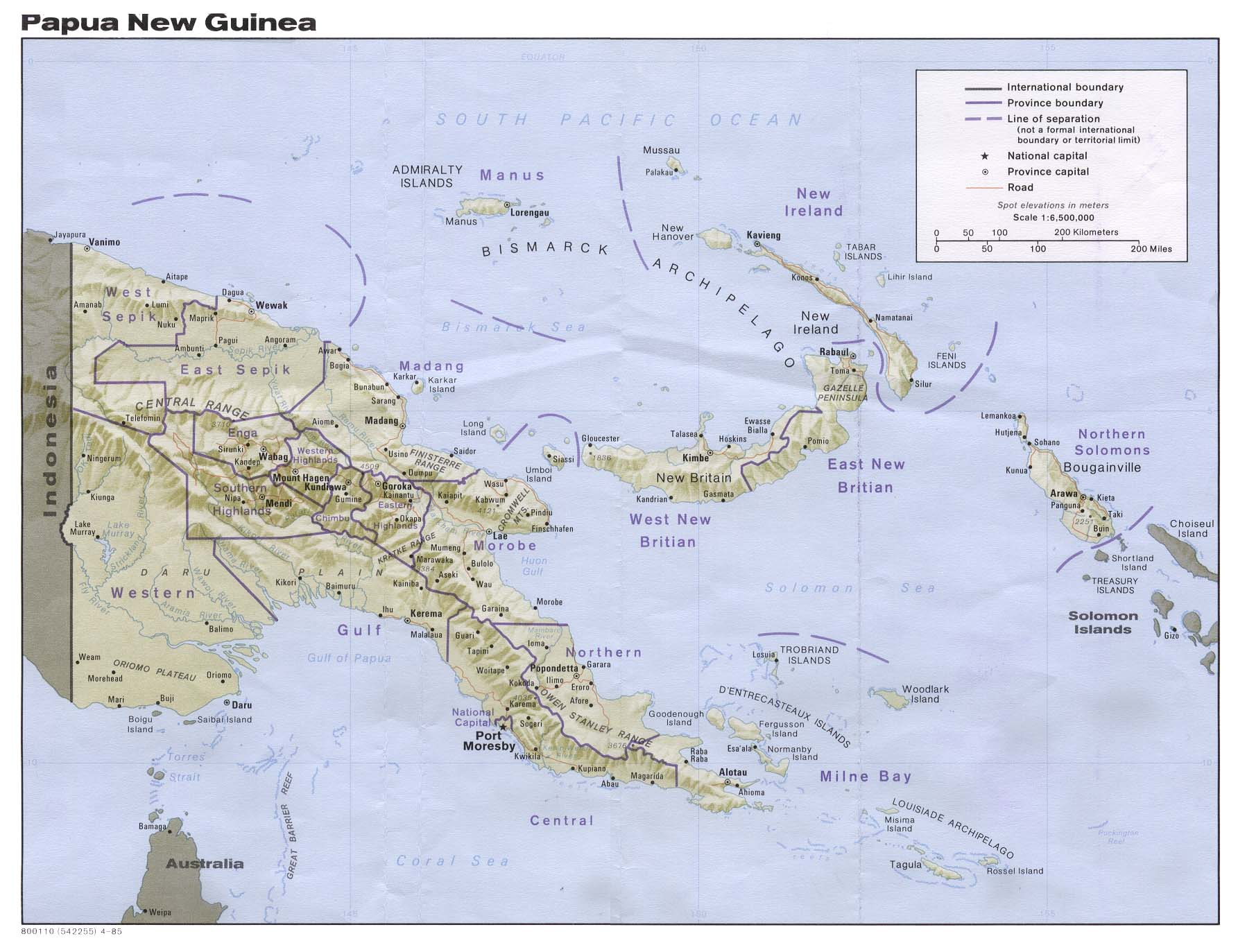 Maps of Papua New Guinea Map Library Maps of the World