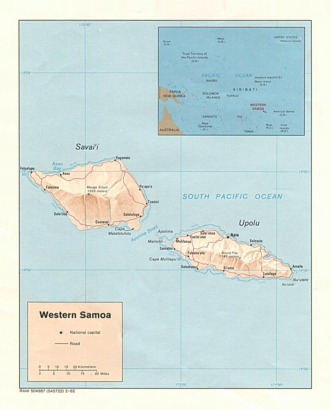 Maps of Samoa Map Library Maps of the World