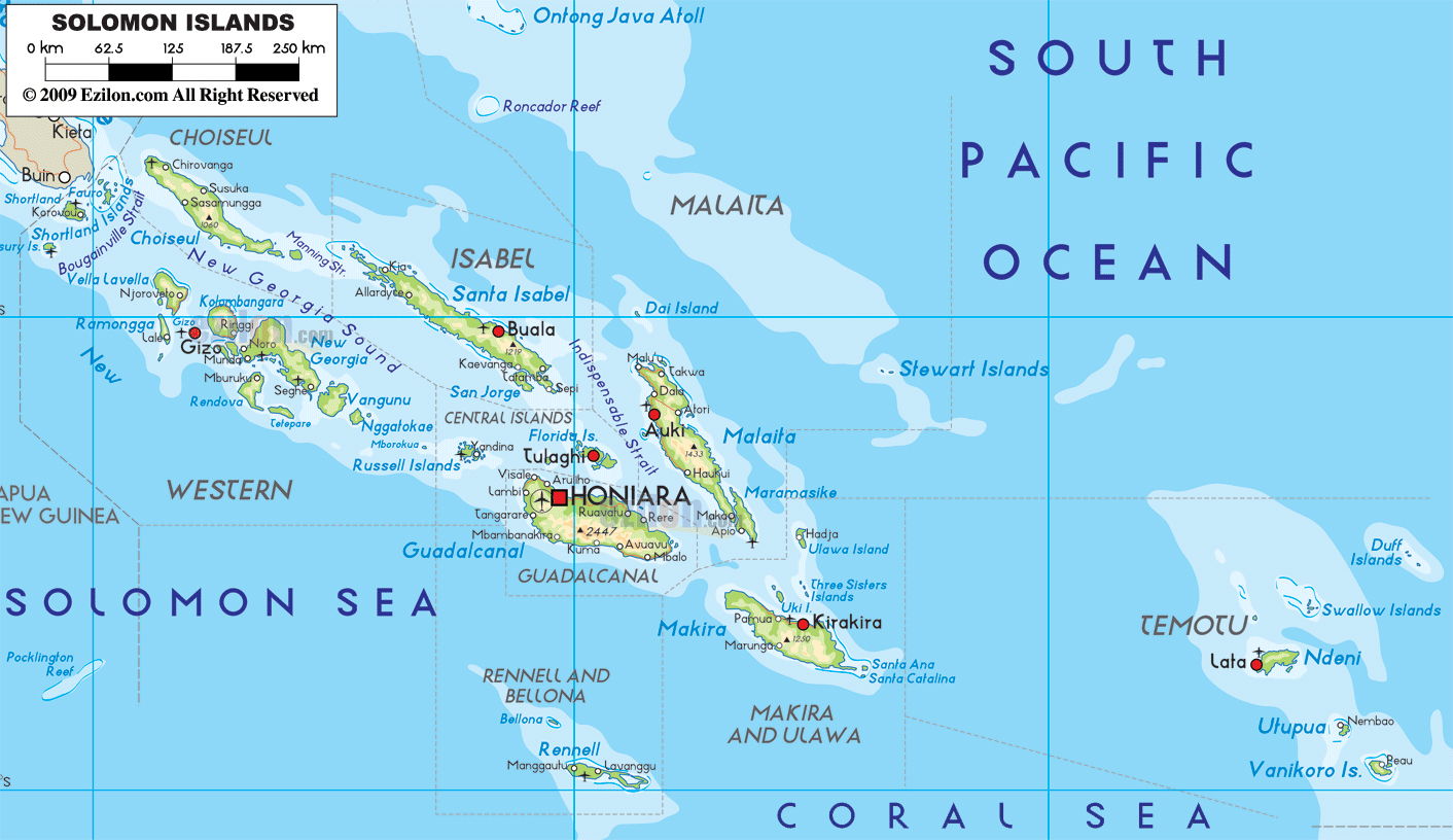 Maps of Solomon Islands Map Library Maps of the World