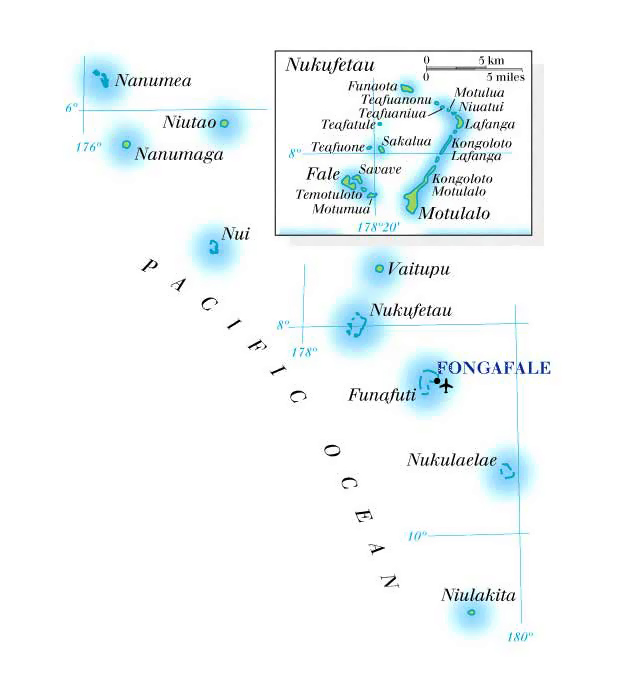 Maps Of Tuvalu Map Library Maps Of The World - Tuvalu map