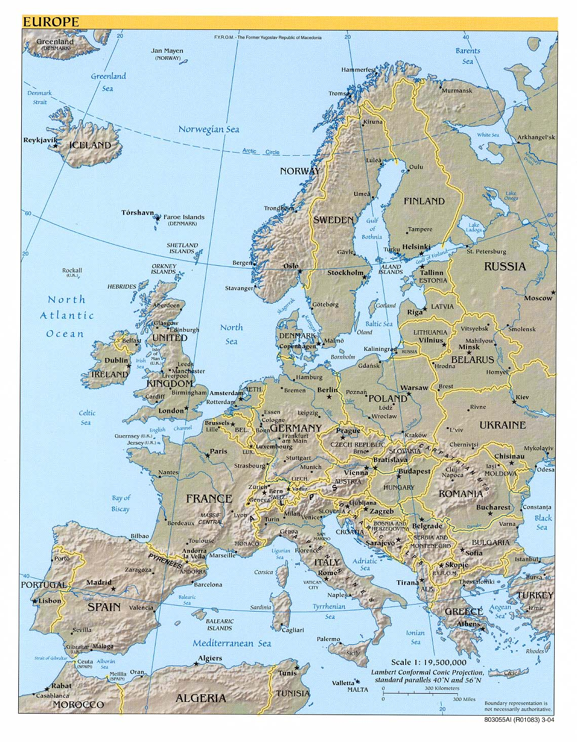 Maps Of Europe Map Library Maps Of The World - Sweden relief map