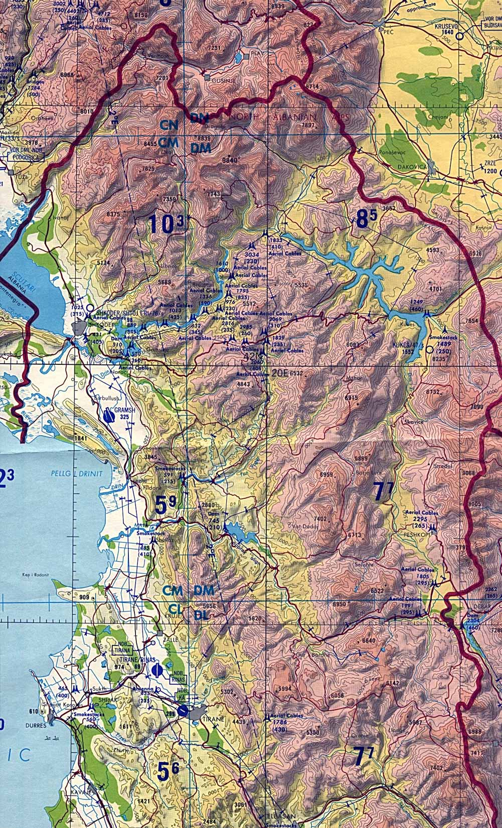 Maps Of Albania Map Library Maps Of The World - Albania map