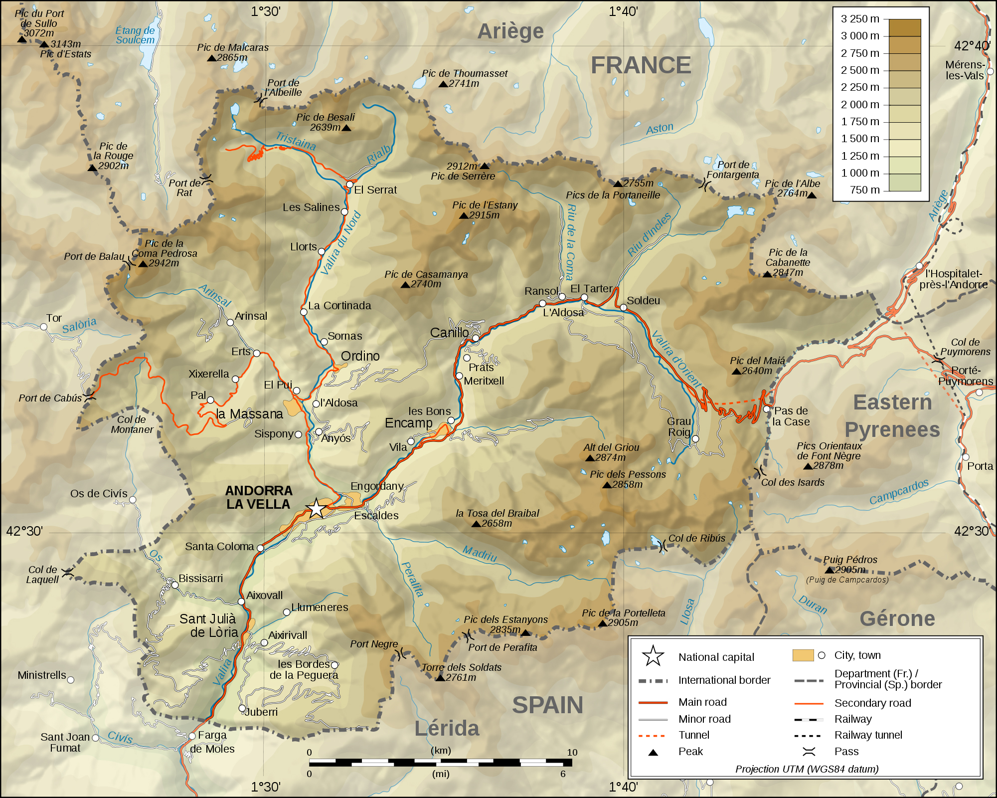 Maps of Andorra Map Library Maps of the World
