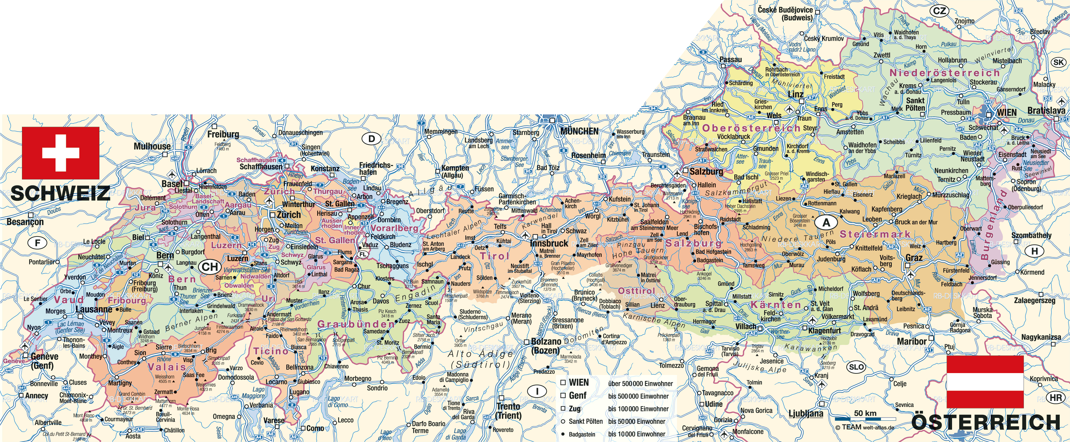 Maps Of Austria Map Library Maps Of The World - Austria political map