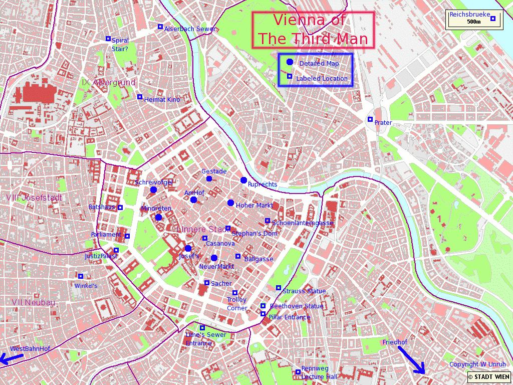 Street map Vienna Simple Austria