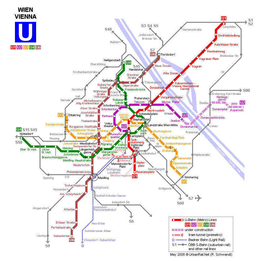 Maps of austria map library maps of the world vienna subway map gumiabroncs Choice Image