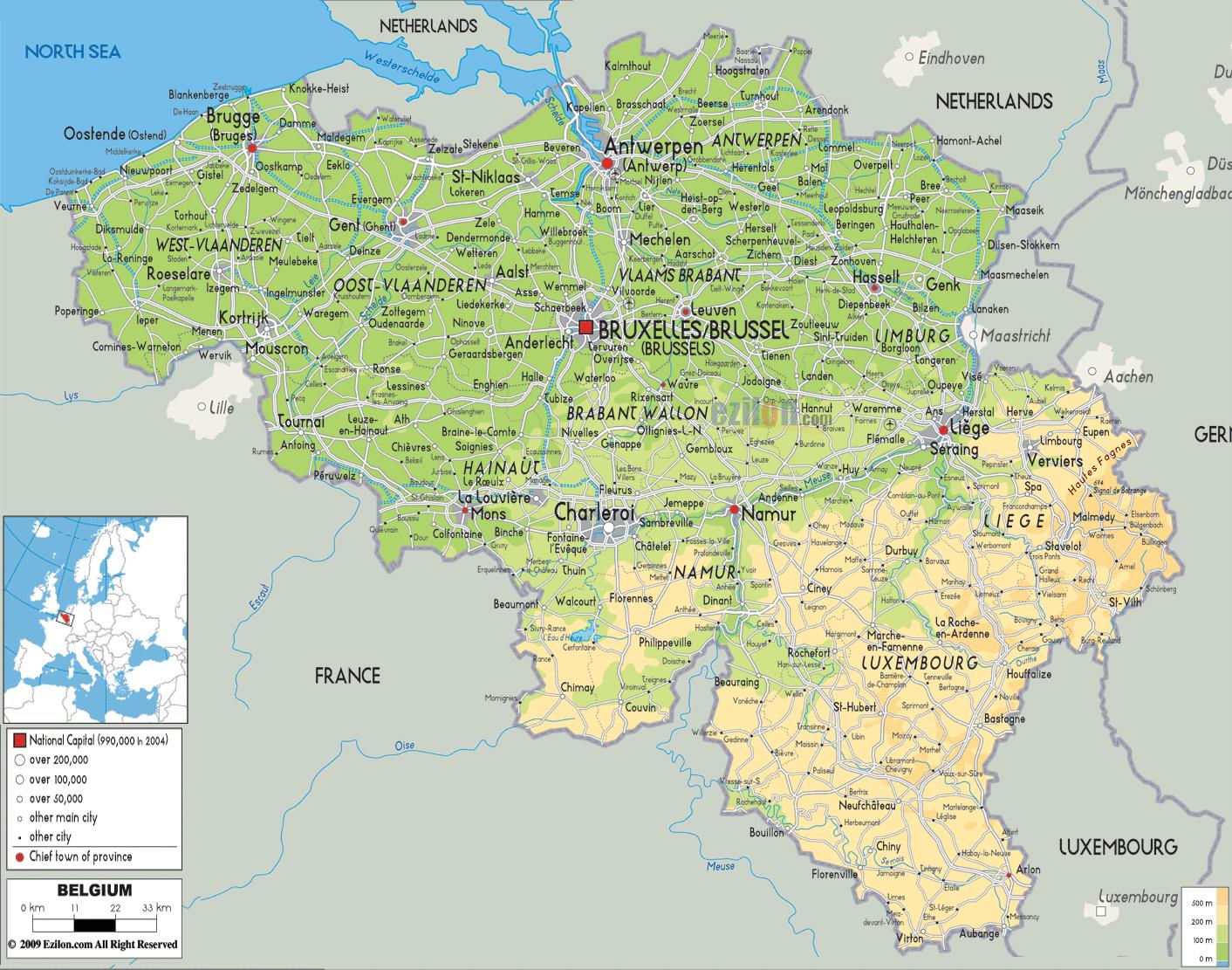 map belgien