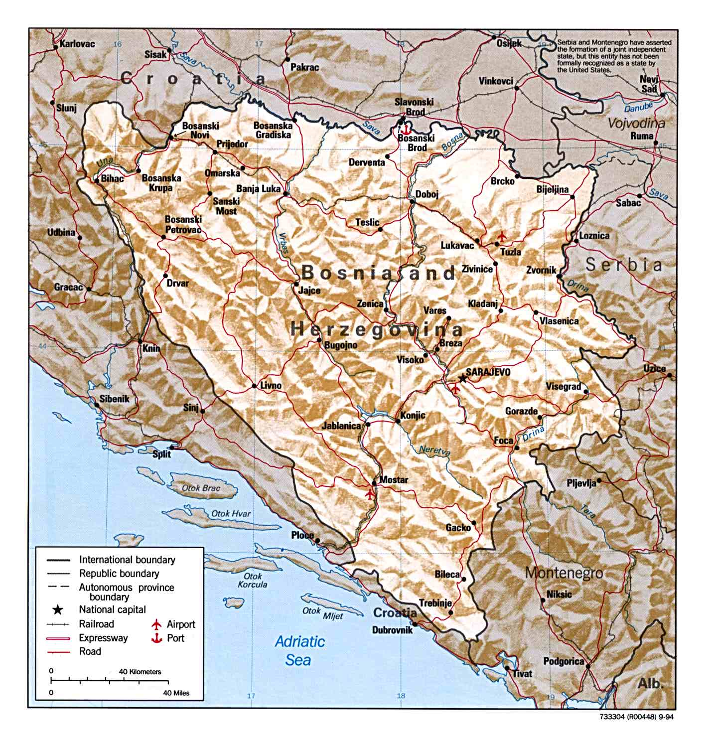 Maps of Bosnia and Herzegovina Map Library Maps of the World