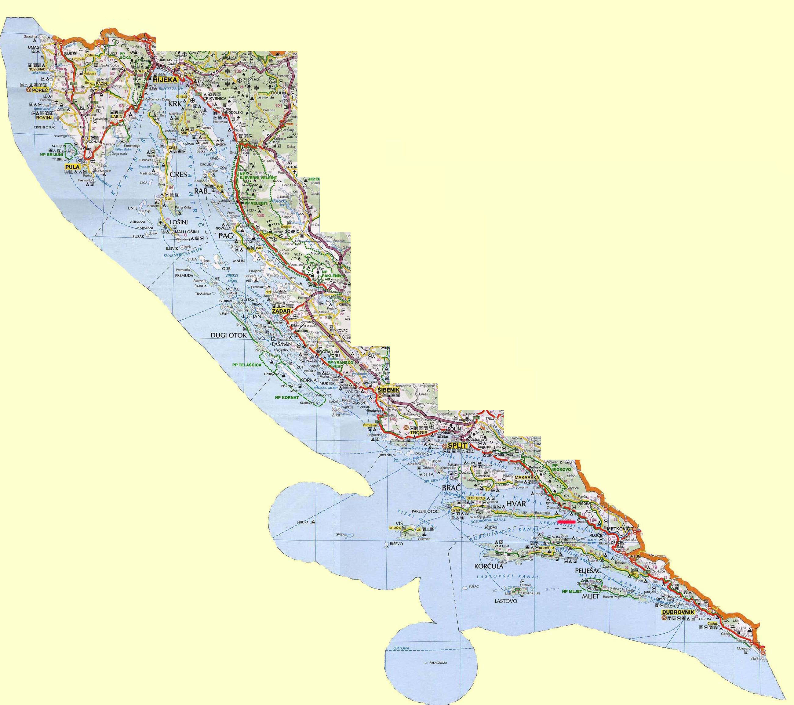 Maps Of Croatia Map Library Maps Of The World