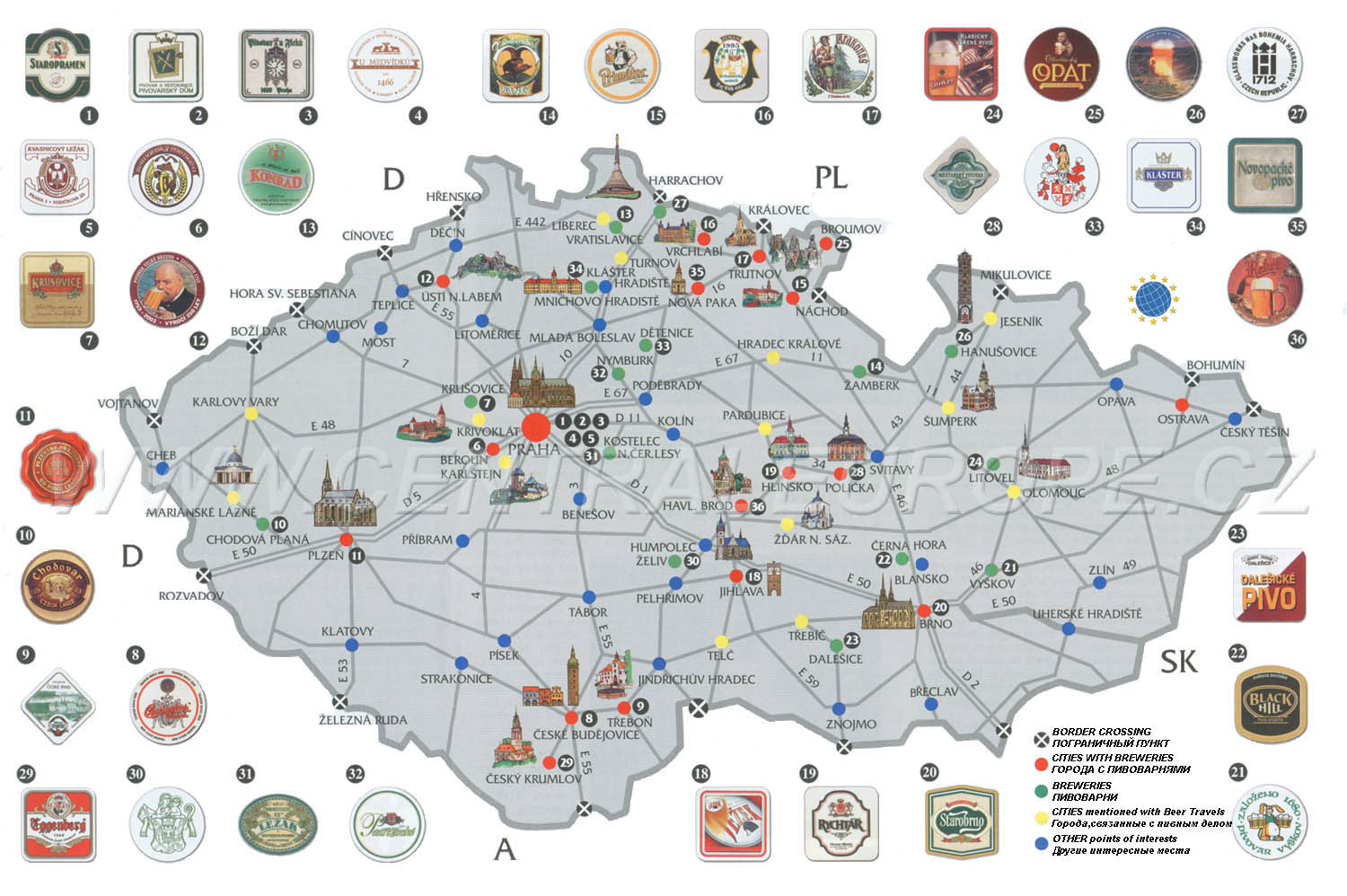 Maps of Czech Republic Map Library Maps of the World