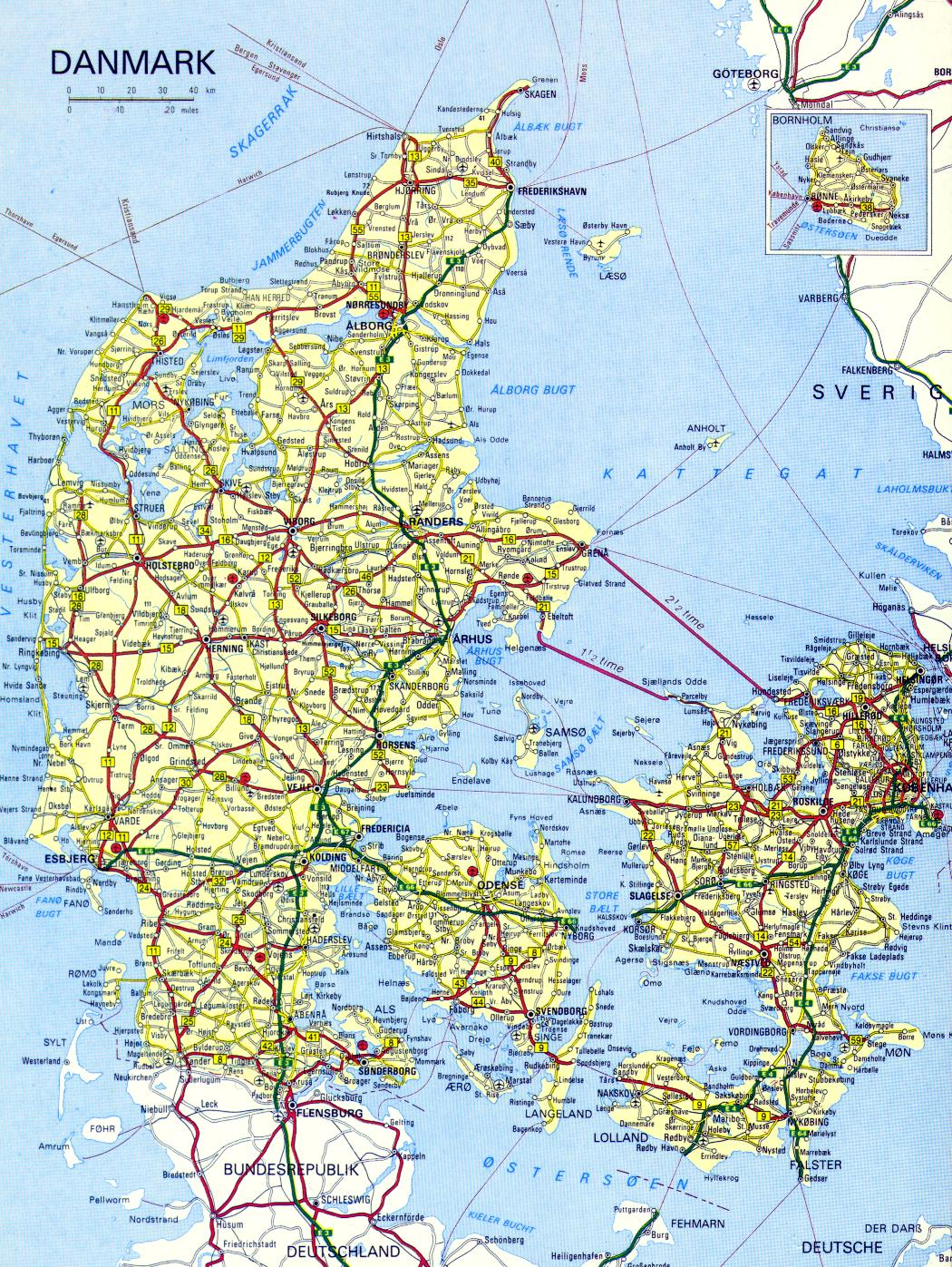 Maps Of Denmark Map Library Maps Of The World - Map of denmark