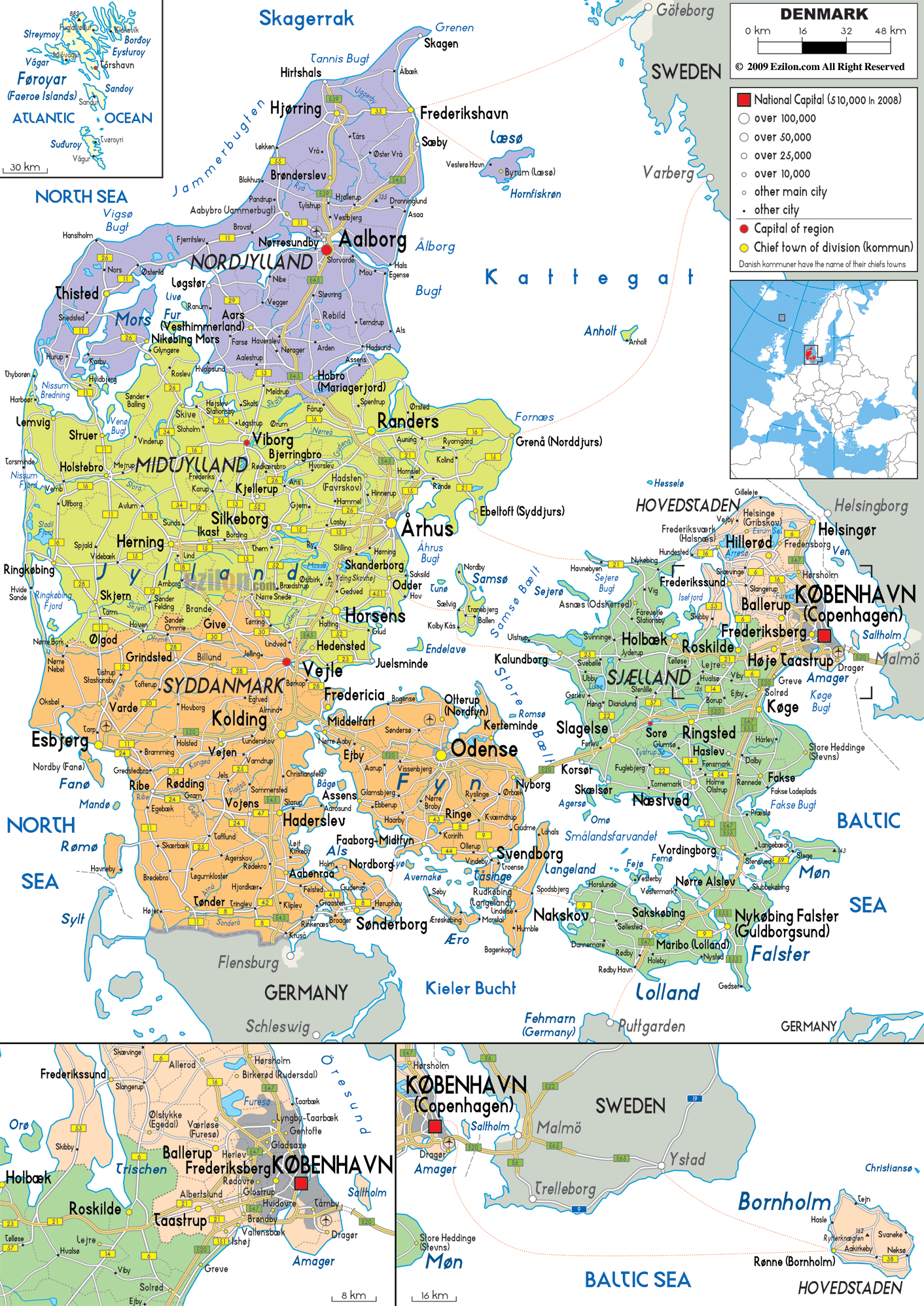 Maps of Denmark Map Library Maps of the World