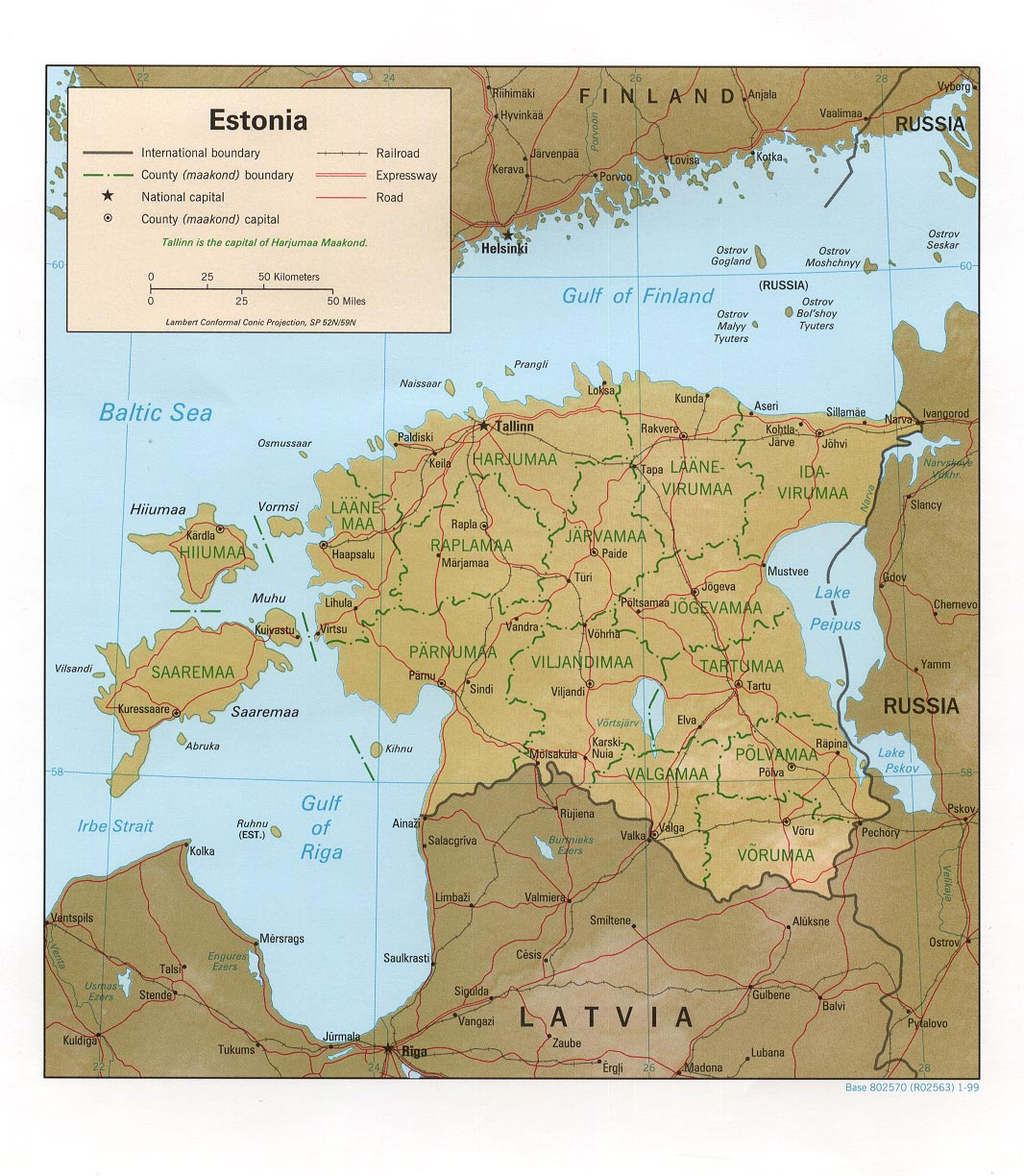 Maps of Estonia Map Library Maps of the World