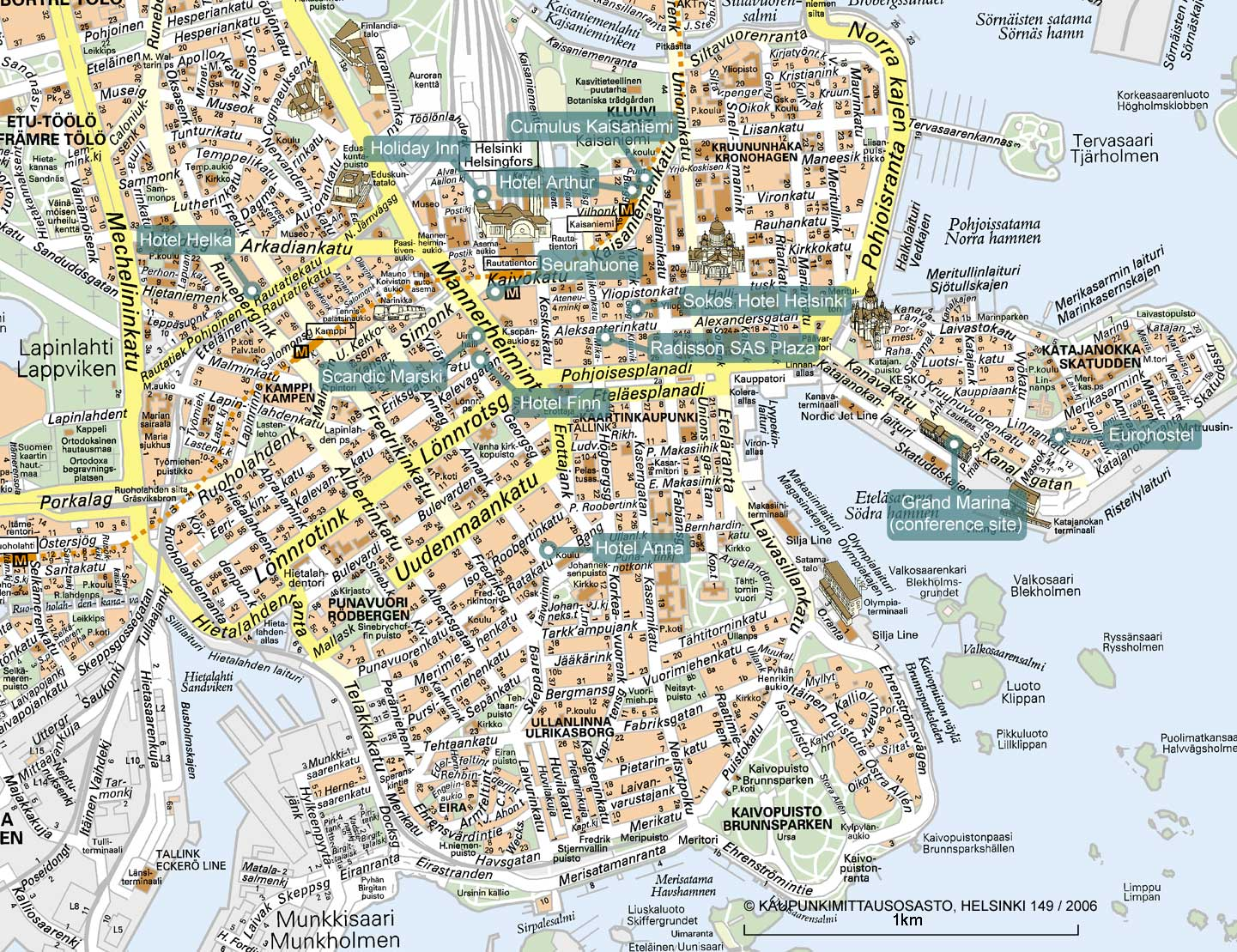 Maps of finland map library maps of the world large detailed tourist map of helsinki city gumiabroncs Image collections