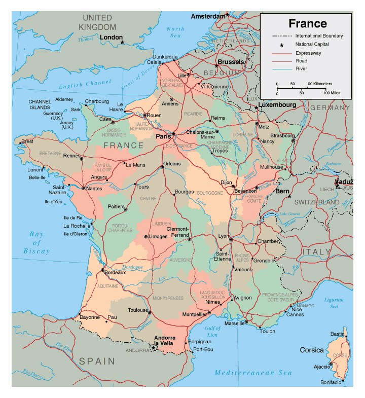 Maps of France Map Library Maps of the World