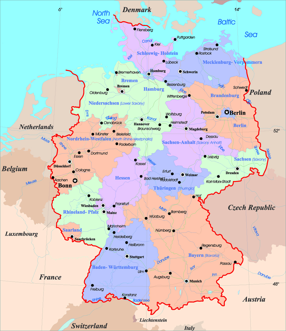 Maps of Germany | Map Library | Maps of the World