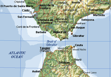Maps of Gibraltar Map Library Maps of the World