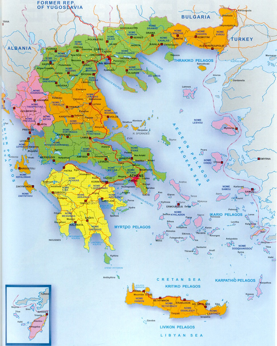 Maps of greece map library maps of the world detailed administrative map of greece gumiabroncs Gallery