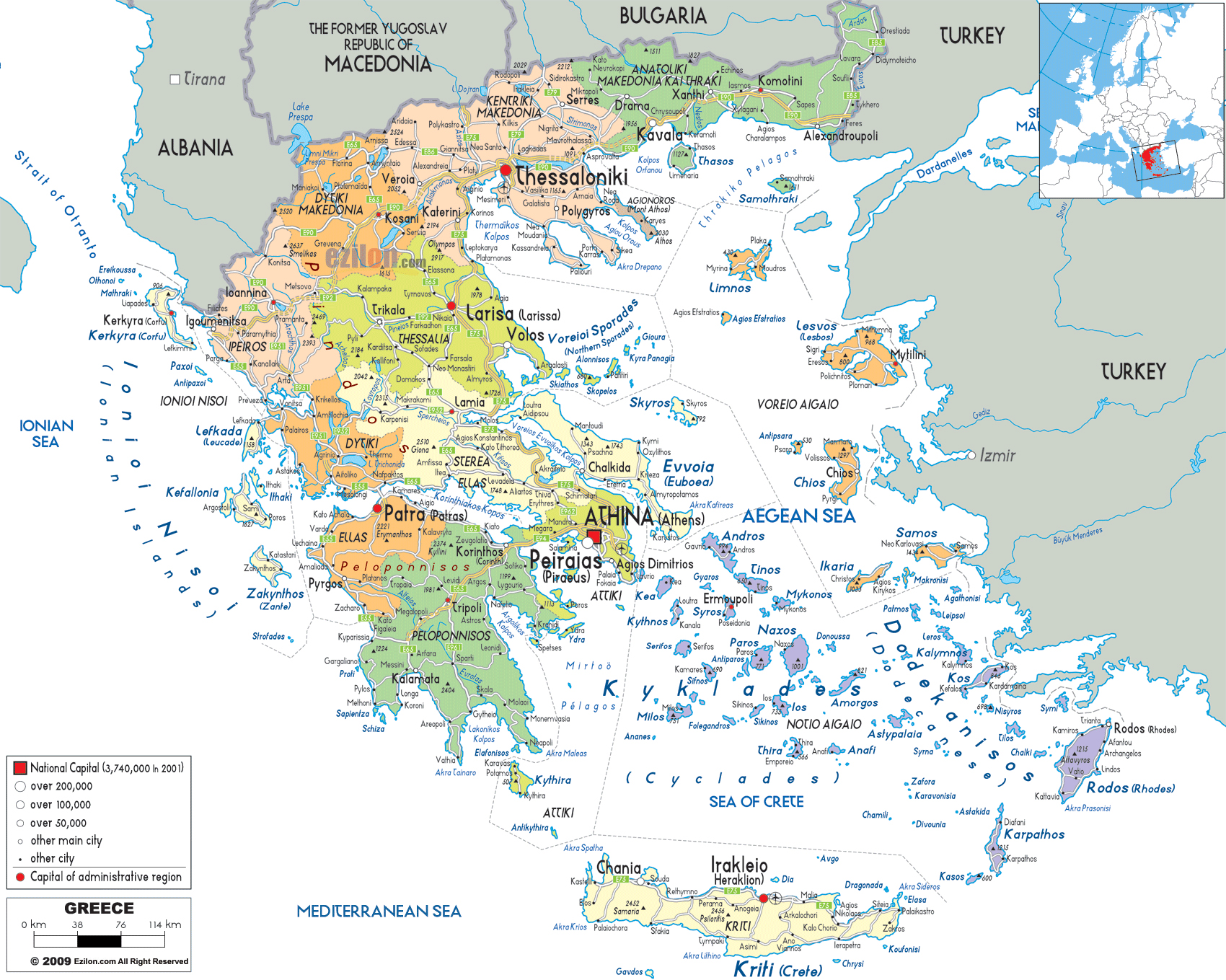 Maps of Greece Map Library Maps of the World