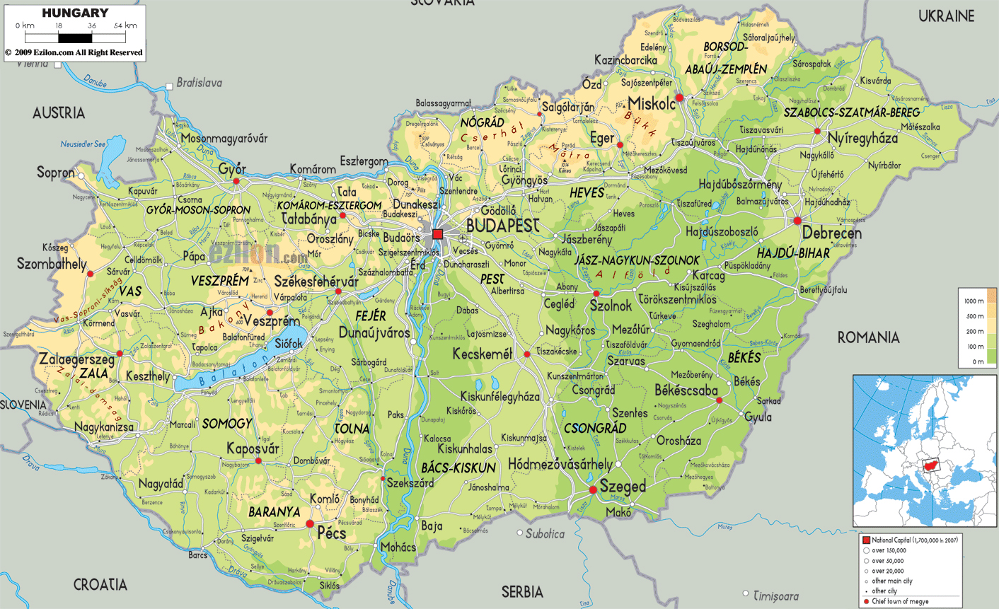 Maps of Hungary Map Library Maps of the World