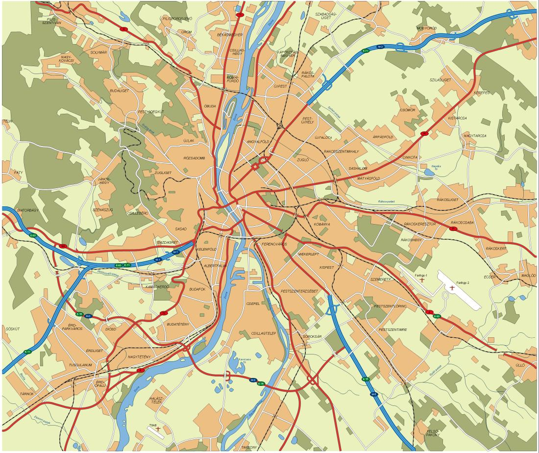 Maps of hungary map library maps of the world large detailed map of budapest city gumiabroncs Choice Image