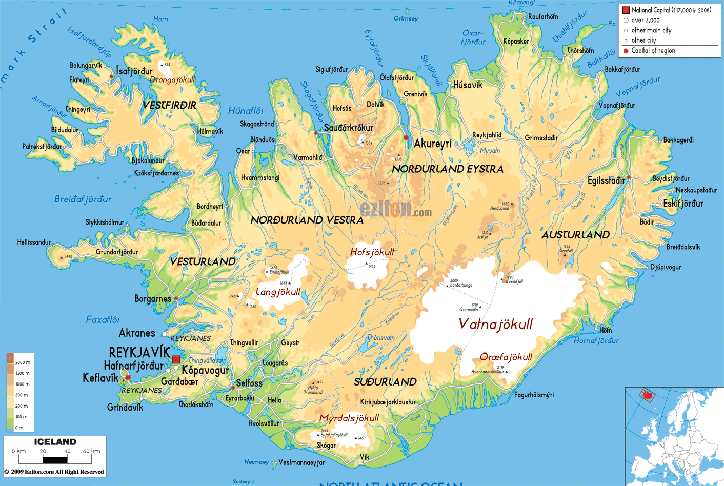 Maps Of Iceland Map Library Maps Of The World - Airports in iceland