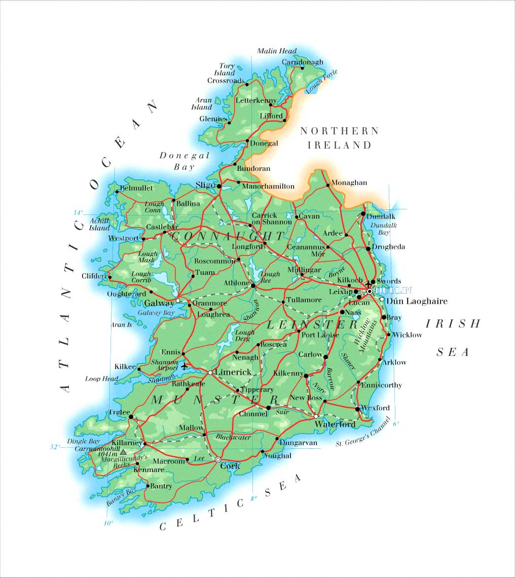 Cities In Ireland Map.Maps Of Ireland Map Library Maps Of The World