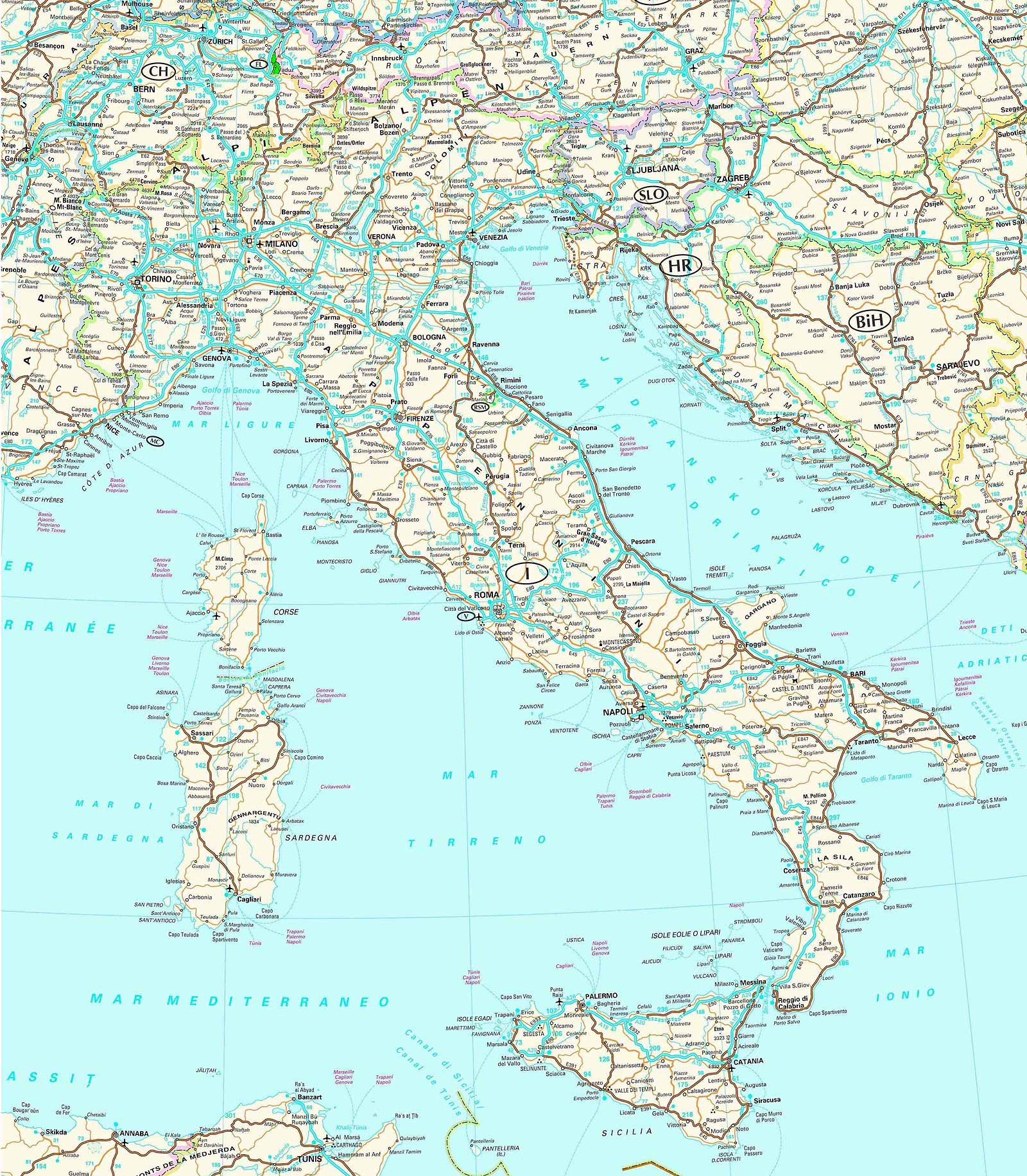 Maps of Italy Map Library Maps of the World