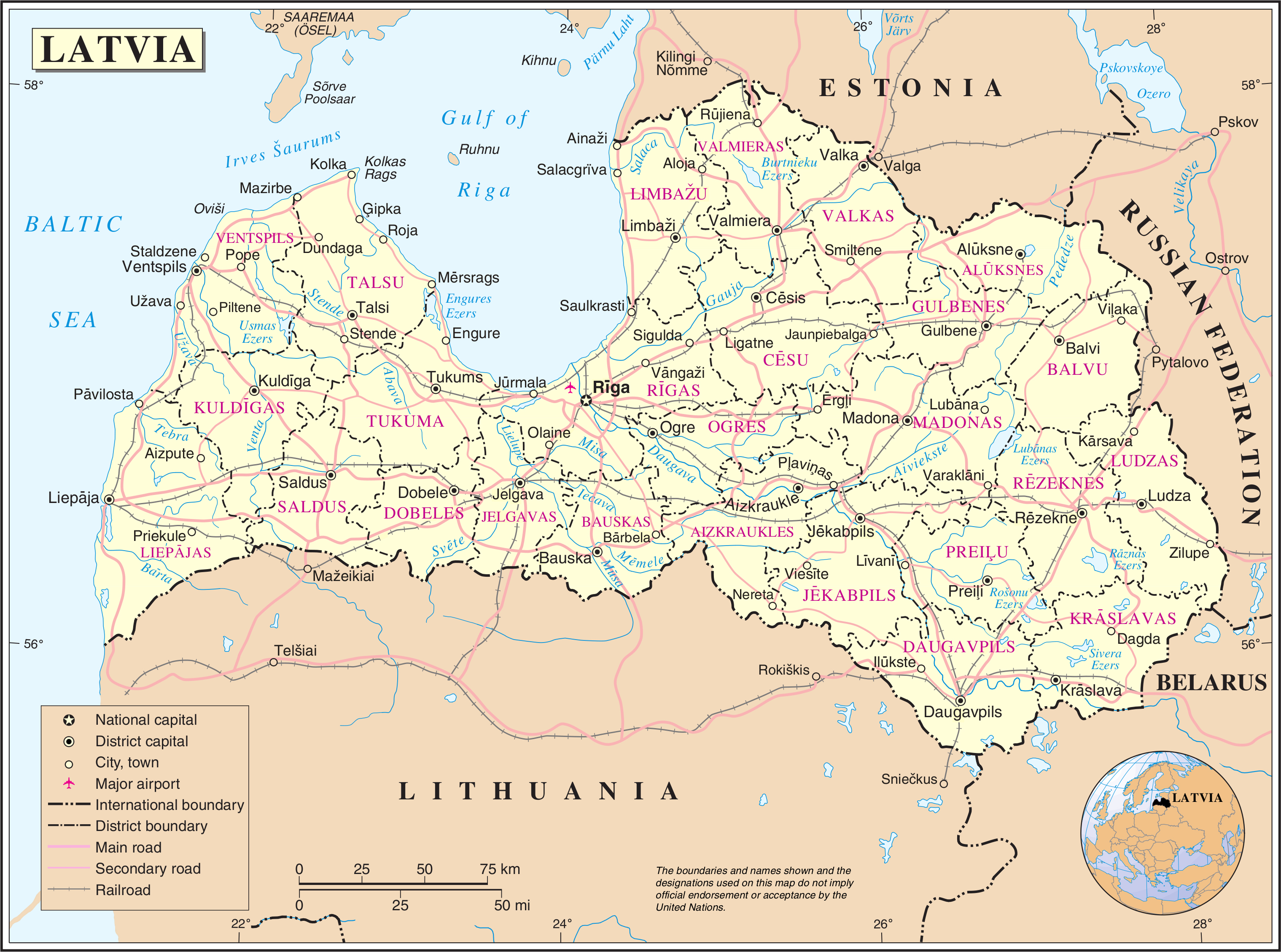 Maps of Latvia | Map Library | Maps of the World