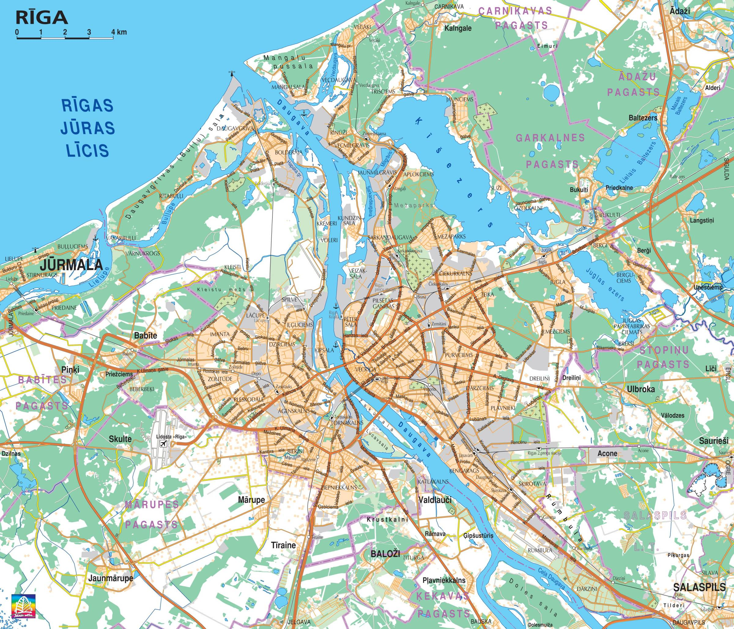 Maps of Latvia Map Library Maps of the World